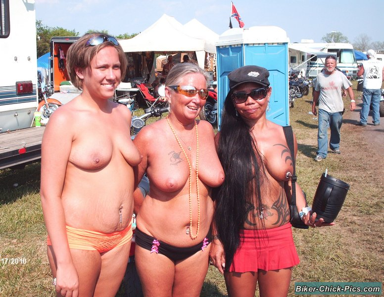 Nude motorcycle rally