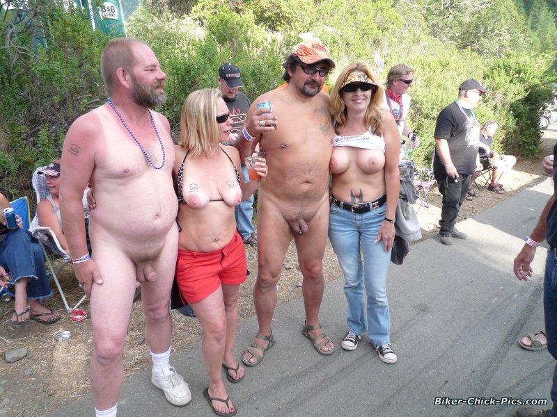 biker babes run naked